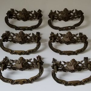 unbranded Accents - Set of 6 Antique North Wind Face Drawer Pulls